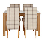 more details on Heart of House Clevedon Ext Table & 4 Check Skirted Chairs.