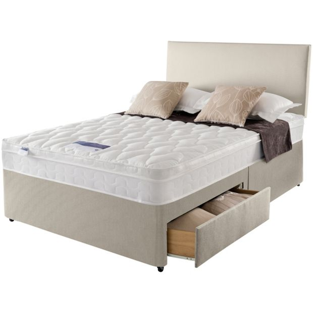 Bedroom Furniture Auckland: Buy Silentnight Auckland Natural Superking 4 Drw Divan Bed