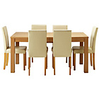 more details on Hemsley Extendable Dining Table & 6 Cream Chairs.