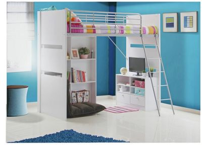 Buy Classic High Sleeper With Blue Sofa Bed Frame Pine At Argos Co Uk Your Online Shop For