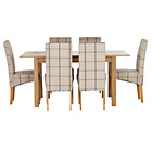 more details on Heart of House Clevedon Ext Table & 6 Check Skirted Chairs.