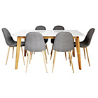 more details on Hygena Beni Dining Table & 6 Grey Chairs.