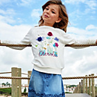 more details on Cherokee Girls Pretty Flowers Graphic Sweater.