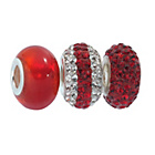 more details on Link Up Sterling Silver Red/White Crystal Charms - Set of 3.