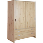 more details on New Capella 2 Door 2 Drw Sliding Wardrobe - Pine Effect.
