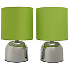 more details on ColourMatch Pair of Touch Table Lamps - Apple Green.