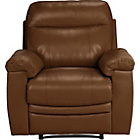 more details on Collection New Paolo Leather Manual Recliner Chair - Tan.