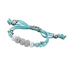 more details on Turquoise Leather Crystal and Pearl Charm Bracelet.