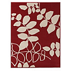 more details on Amble Leaf Rug 120x160cm - Red.
