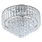 more details on Collection Olivia 3 Light Ceiling Fitting - Clear.