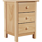 more details on New Scandinavia 3 Drawer Bedside Chest - Pine.