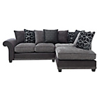 more details on Rhiannon Fabric Right Hand Corner Sofa Group - Charcoal.