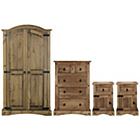more details on Puerto Rico 4 Piece 2 Door Wardobe Package - Dark Pine.