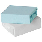 more details on Baby Elegance 2 Pack Fitted Cot Bed Sheets - Blue.