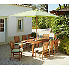 more details on The Collection Madison 8 Seater Wooden Patio Set - Green.