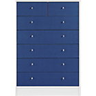 more details on New Malibu 5+2 Drawer Chest - Blue on White.