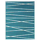 more details on Linear Rug 120x160cm - Teal.