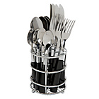 more details on ColourMatch 16 Piece Cutlery Caddy - Jet Black.