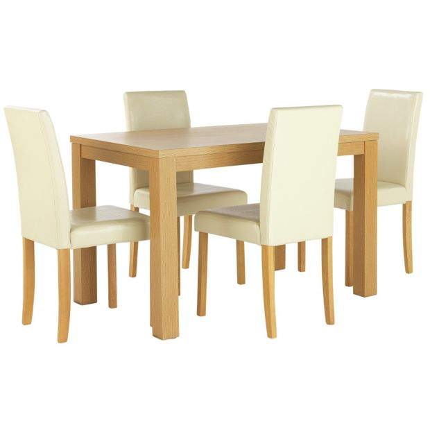 Argos Dining Table And Chairs White: Buy HOME Pemberton Dining Table And 4 Chairs