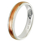 more details on 9ct Rose Gold and Sterling Silver 4mm Wedding Ring.
