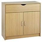 more details on Great Value 2 Door 1 Drawer Sideboard - Oak Effect.