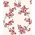 more details on Superfresco Colours Cherry Blossom Wallpaper - Scarlet.