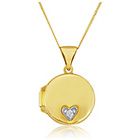 more details on 9ct Gold Cubic Zirconia Oval Locket Pendant.