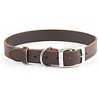 more details on Heritage Diamond Brown Leather Dog Collar - Large.