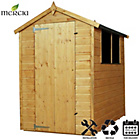 more details on Mercia Shiplap Apex Wooden Shed Installation Included -6x4ft