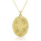 more details on 9ct Gold Flower Oval Locket Pendant.