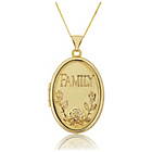 more details on 9ct Gold 4 Picture Oval Family Locket Pendant.