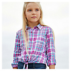 more details on Cherokee Girls Pink Tie Front Shirt.