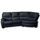 more details on Sorrento Leather Manual Recliner Right Corner Sofa - Black.