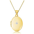 more details on 9ct Gold Diamond Set Oval Locket Pendant.