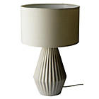 more details on Heart of House Elvington Ribbed Ceramic Table Lamp - Grey.