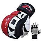 more details on RDX Synthetic Leather MMA Grap Gloves Meduim/Large - Red