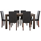 more details on Pemberton Walnut Effect Dining Table & 6 Black Chairs.