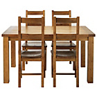 more details on Arizona Solid Pine Dining Table and 4 chairs.