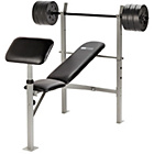 more details on WOW Pro Fitness Workout Bench with 35KG Weights