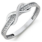 more details on 9ct White Gold Cubic Zirconia Infinity Eternity Ring.