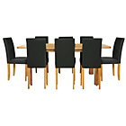 more details on Heyford Extendable Dining Table and 8 Black Chairs.