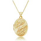 more details on 9ct Gold Engraved Nan Oval Locket Pendant.