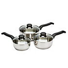 more details on Ready Steady Cook Stainless Steel 3 Piece Saucepan Set.