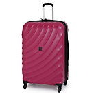 more details on IT Duralition Expandable 4 Wheel Medium Suitcase - Dark Red.