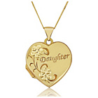 more details on 9ct Gold Daughter Heart Locket Pendant.