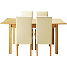 more details on Heart of House Clevedon Ext Table & 4 Cream Skirted Chairs.
