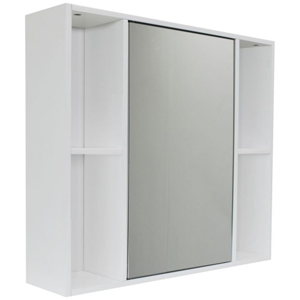 Buy home mirrored cabinet white at your for Argos kitchen cabinets