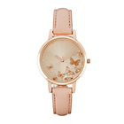 more details on Spirit Ladies' Butterfly Gold Dial Nude Strap Watch.