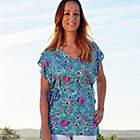 more details on Cherokee Womens Print Tie Waist Top.