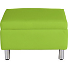 more details on ColourMatch Moda Leather Footstool - Apple Green.